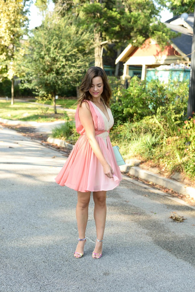 ASOS OMBRE SKATER DRESS
