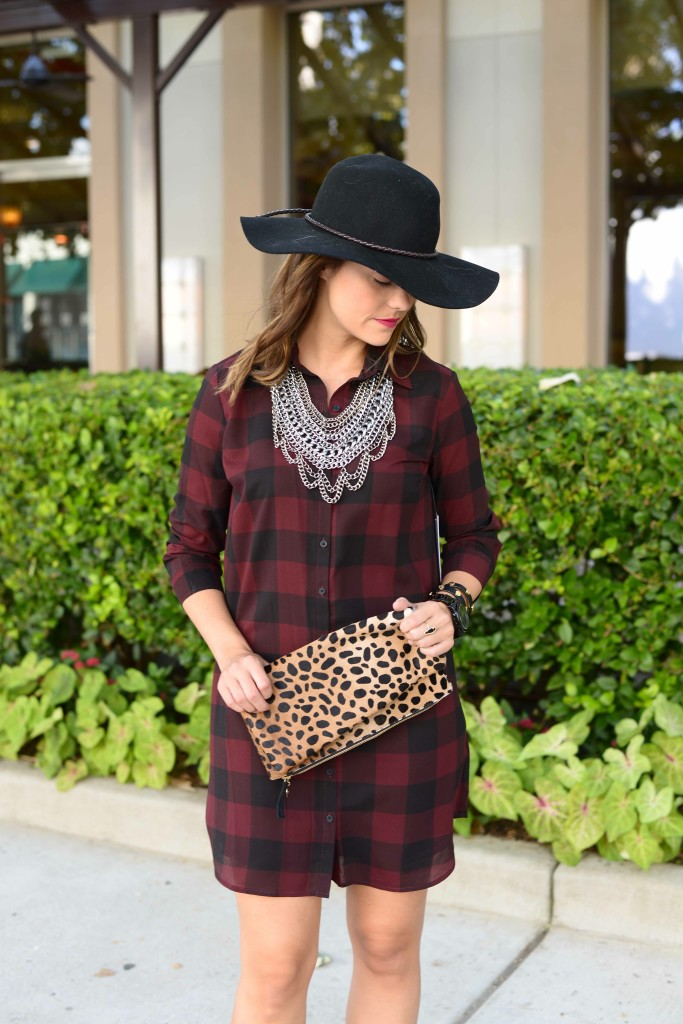 BB Dakota 'Cotter' Plaid Shirtdress