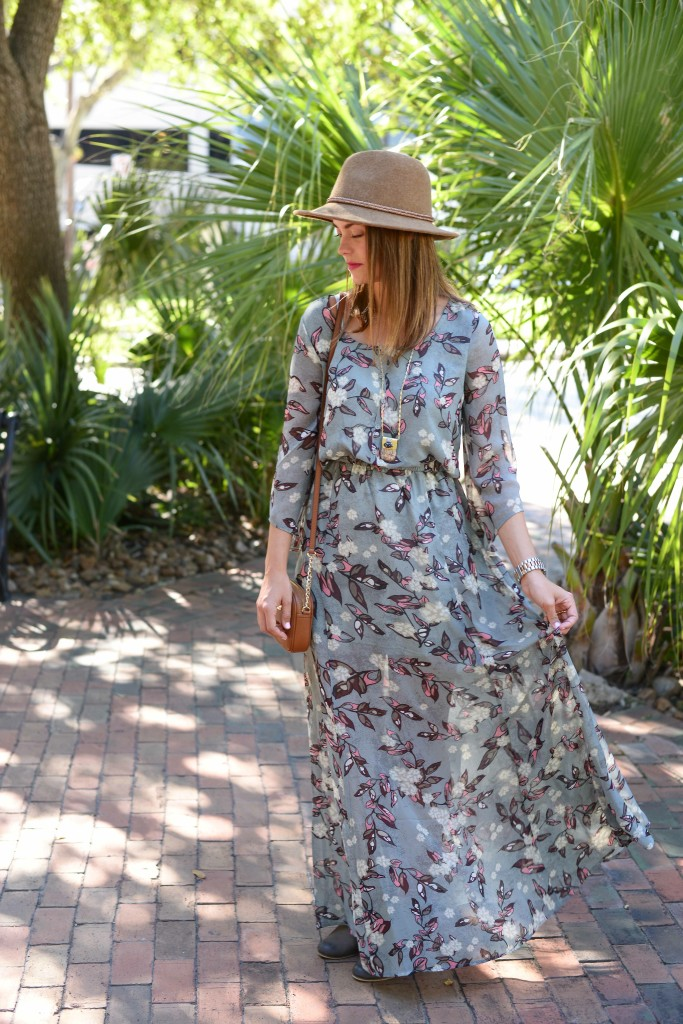 BB DAKOTA Ekko Fable Flower Maxi Dress