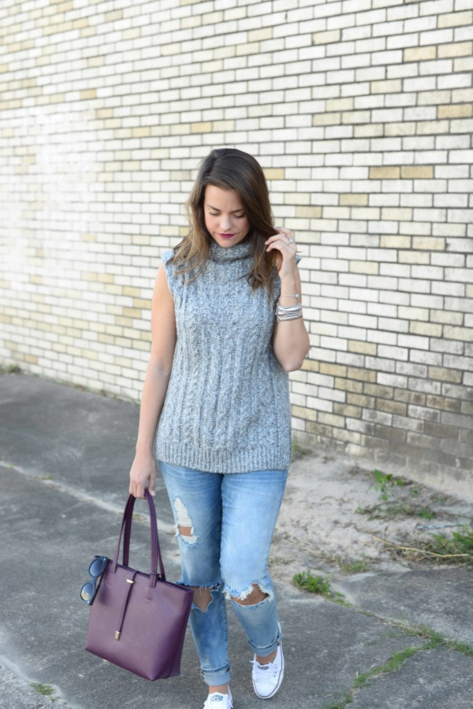 TOPSHOP Cable Knit Tabard Sweater
