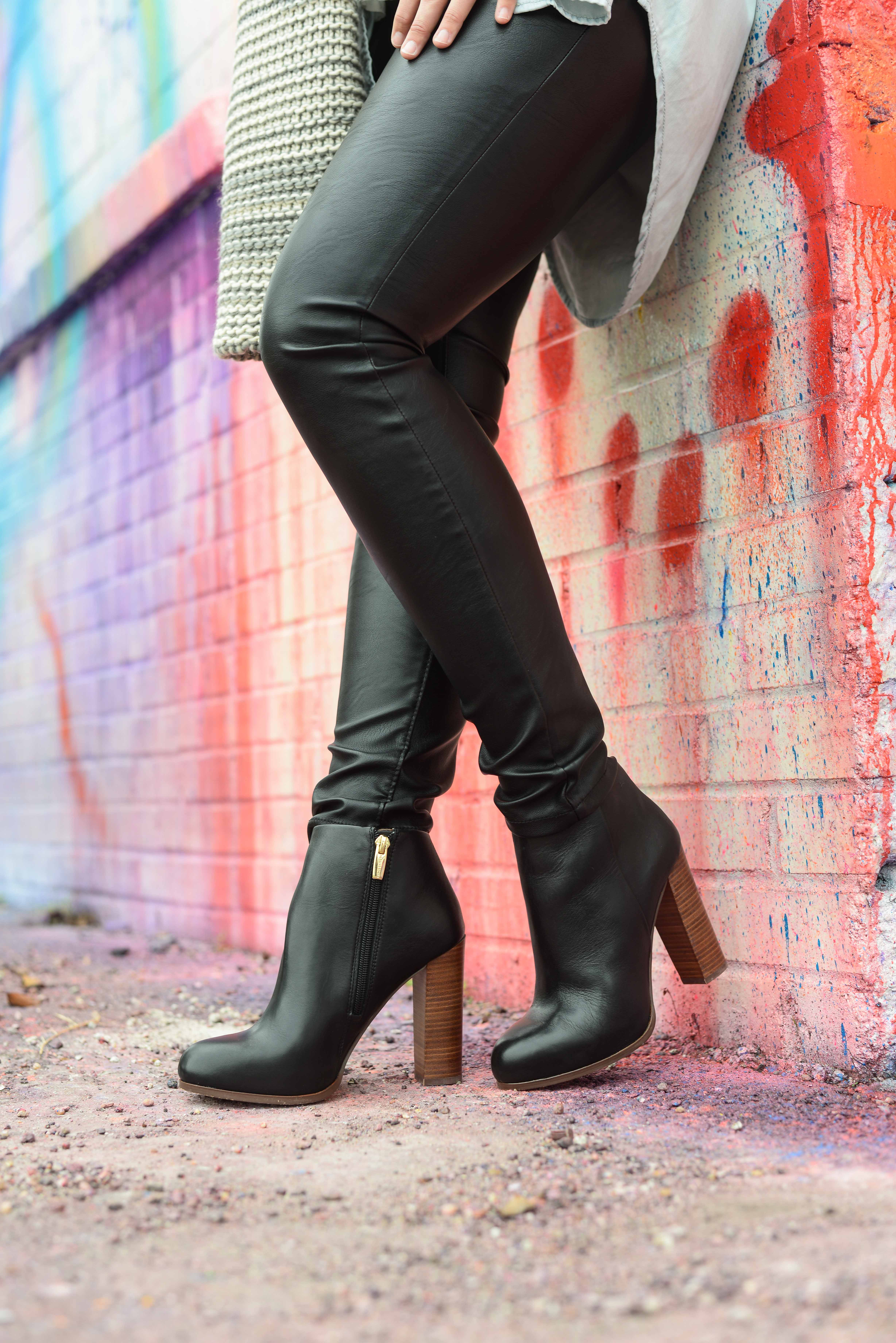 Faux Leather Leggings Houston Fashion Blog The Styled Fox