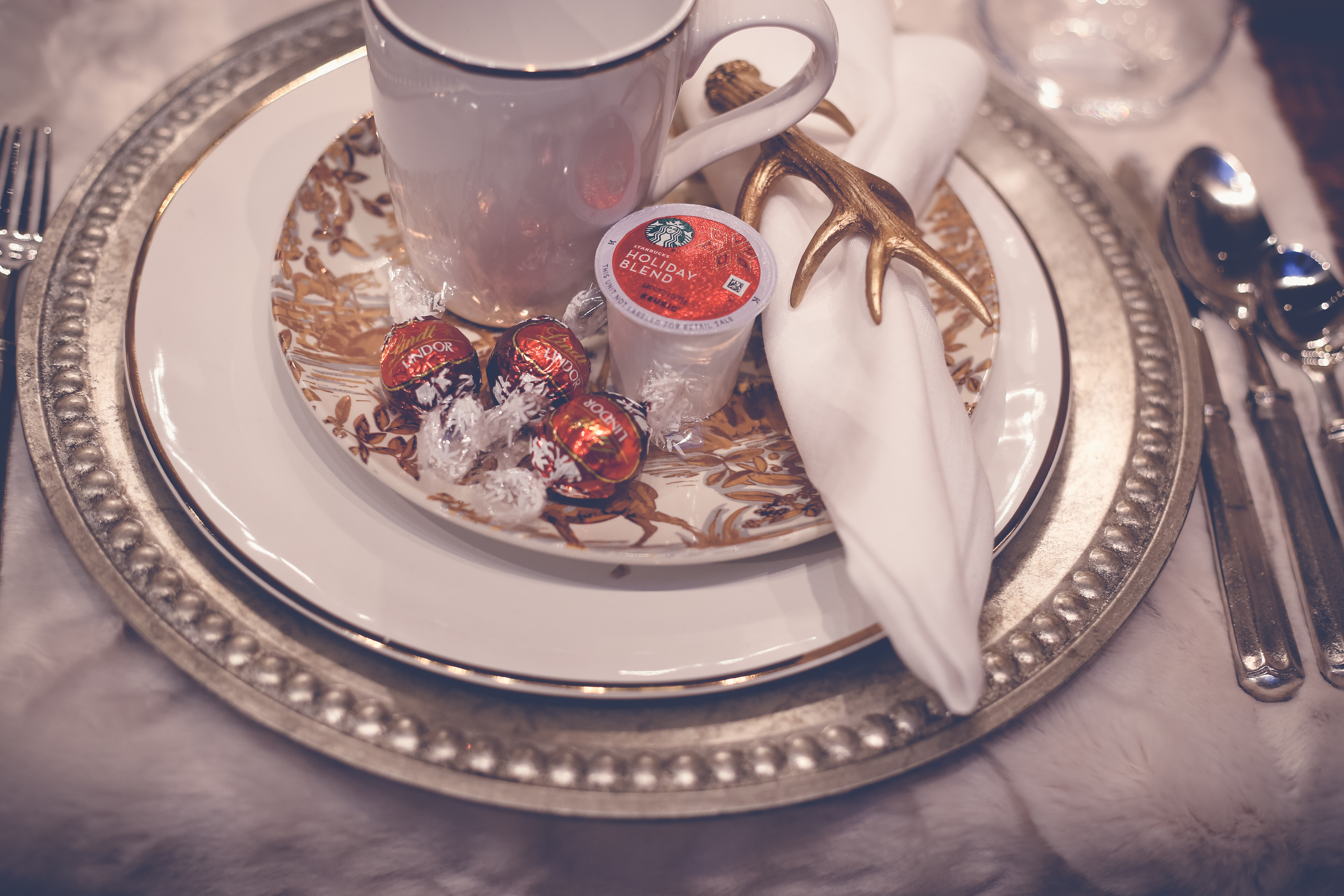 holiday entertaining with starbucks coffee and lindt chocolate