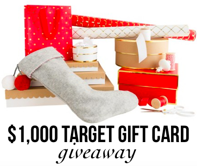 $1,000 Target Gift Card Giveaway