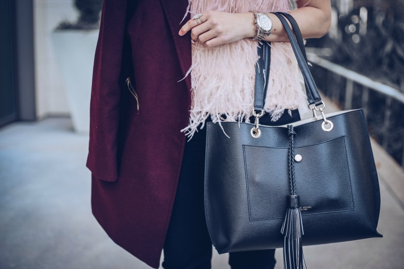CHELSEA28 + OLIVIA PALERMO feather tank, HENRI BENDEL Worth Ave Tote