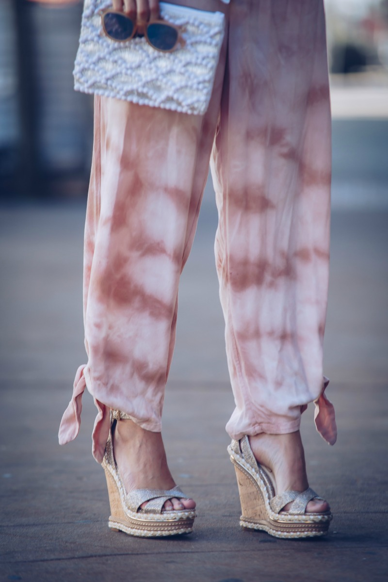 FREE PEOPLE Tie-Dye Slouchy Jumpsuit
