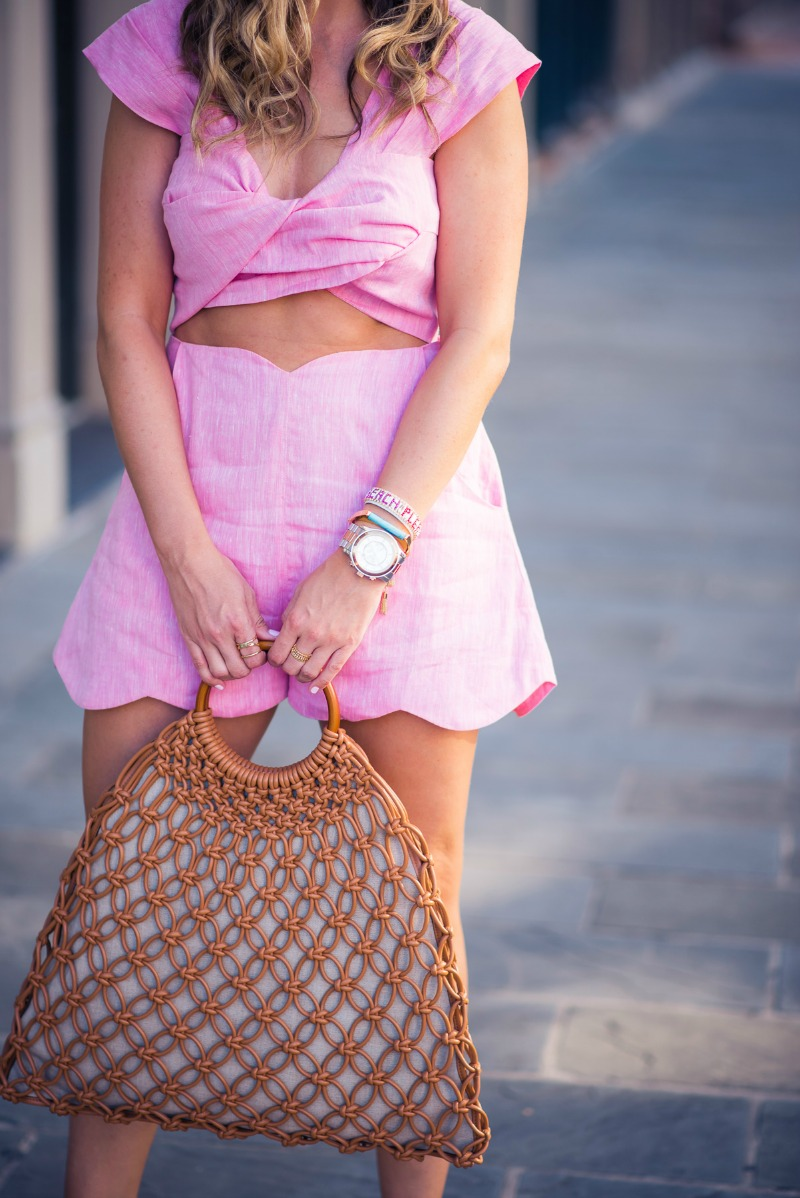 PAPER LONDON TWIST TOP AND FRAISE SHORTS
