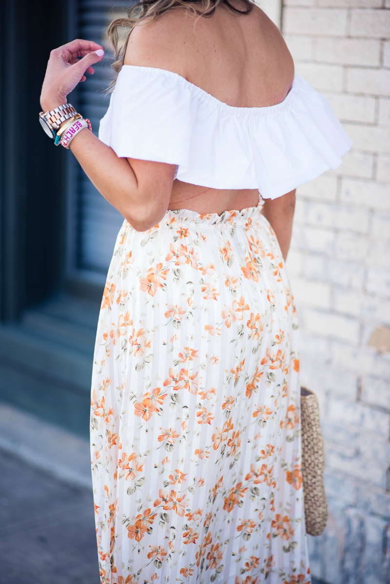 DANCING BLOOMS, WHITNEY SKIRT BY PRIVACY PLEASE