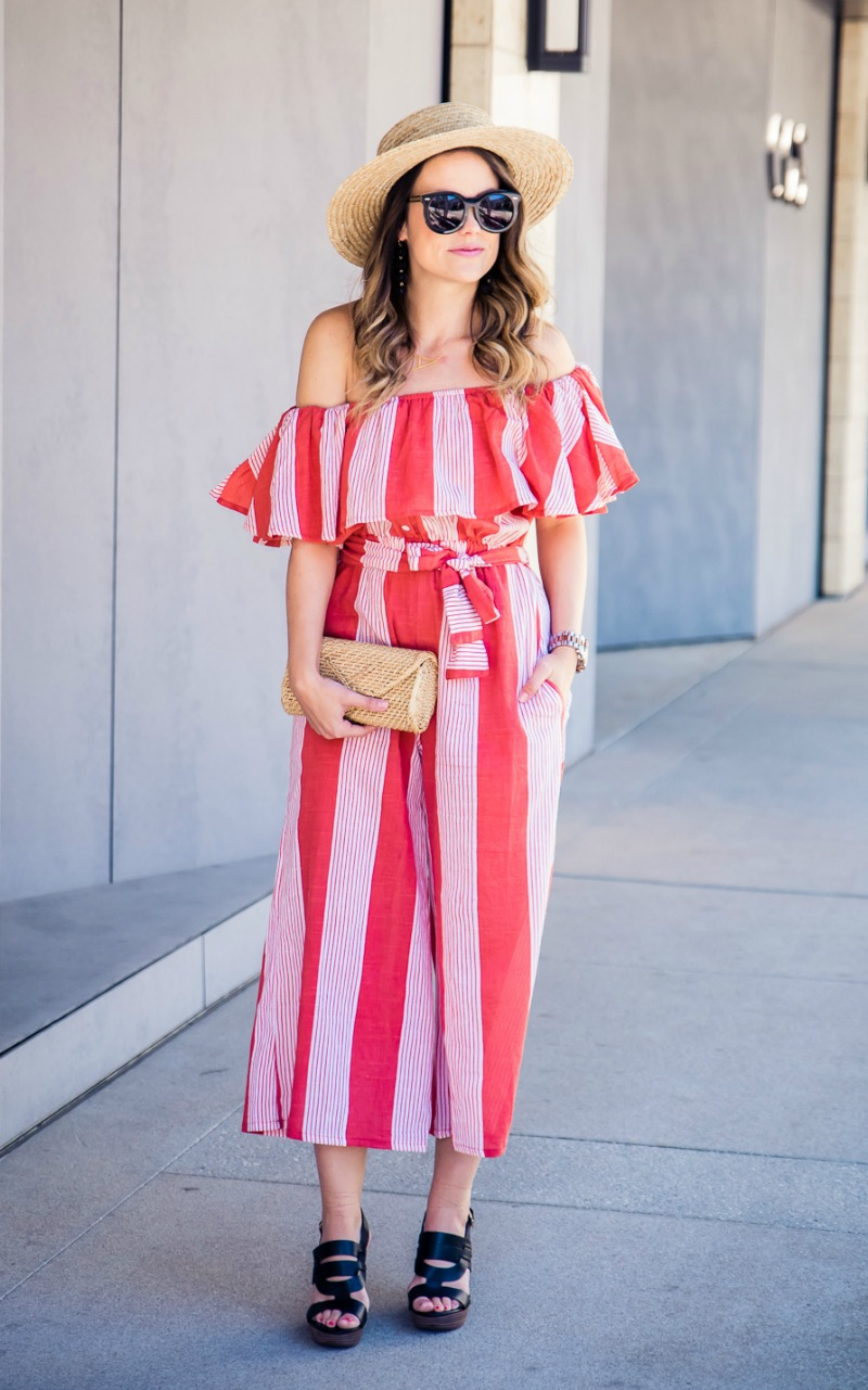 FAITHFULL THE BRAND x REVOLVE PICNIC STRIPE JUMPSUIT