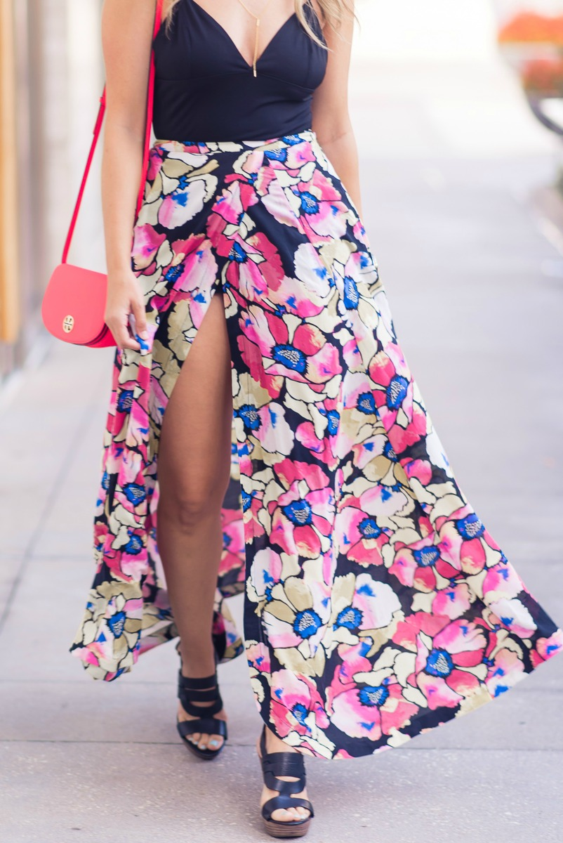 HOW TO WEAR A MAXI SKIRT IN THE SUMMER, FREE PEOPLE Hot Tropics Maxi Skirt
