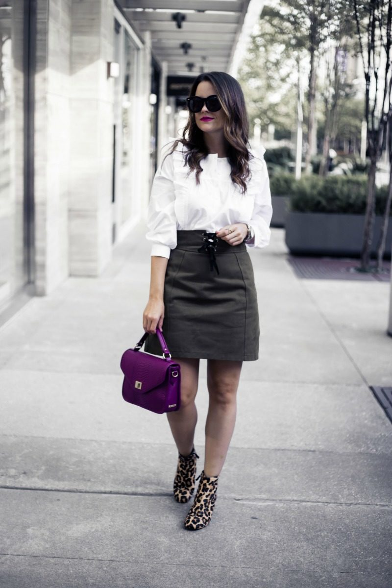 FALL MINI SKIRTS UNDER $100, TOPSHOP Corset Lace-Up Skirt